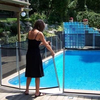 BabySecur Valla para piscina Negro-Plata