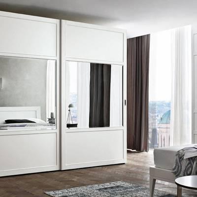 Armario Lacado Blanco con espejo