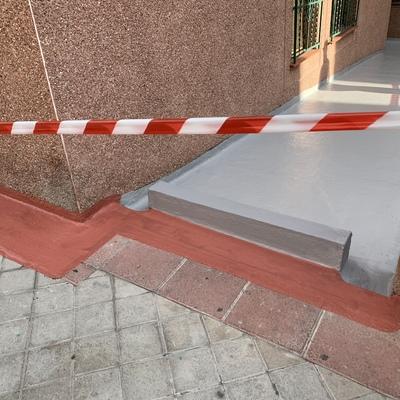 Impermeabilizacion de grieta en el exterior