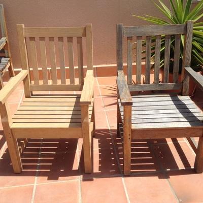Mobiliario exterior madera