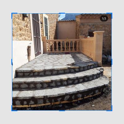 Terraza forro de piedra