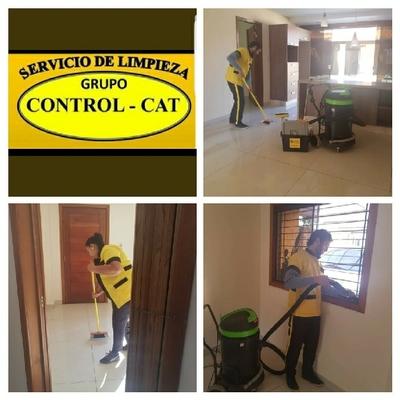 Limpieza de oficinas después de obras.