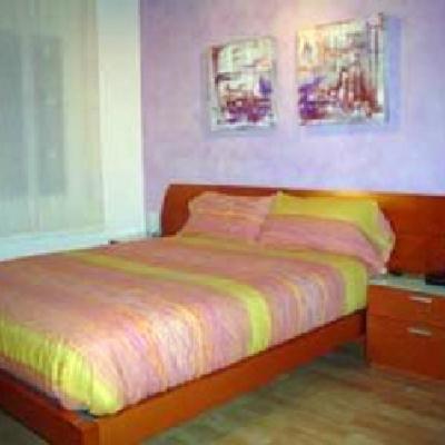 cabecero de cama decorada