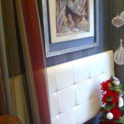 cabezales para dormitorios polipiel blanco