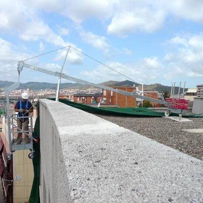 Cabina colgante de elevación manual con pescante para suspensión