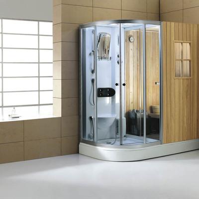 Híbrido mitad cabina de hidromasaje mitad sauna seca modelo AS-001