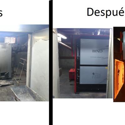 Caldera de biomasa en Piscina Climatizada de Torre Pacheco