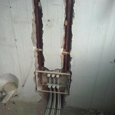 Instalación de preinstalación de calefacción