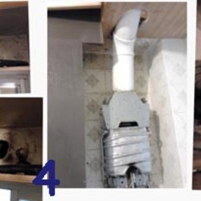 Cambio de conducto de salida de humos de calentador
