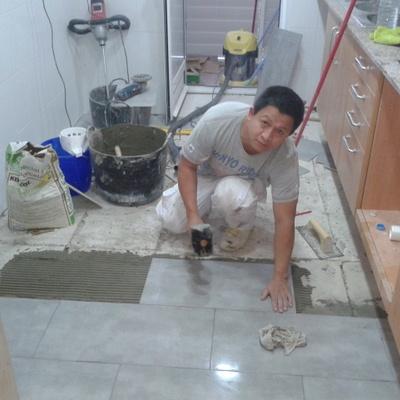 cambio de suelo de la cocina