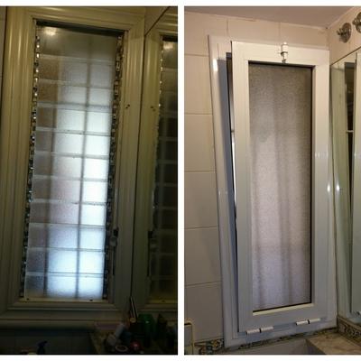 Cambio de ventana antigua por otra de aluminio batiente