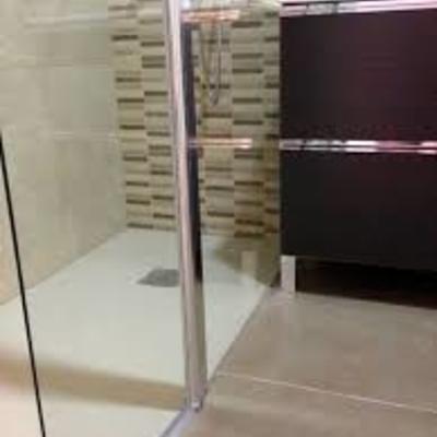 Plato ducha con mapara cristal