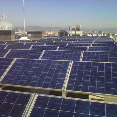 Campo fotovoltaico.