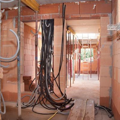 Cableado de instalación en vivienda unifamiliar