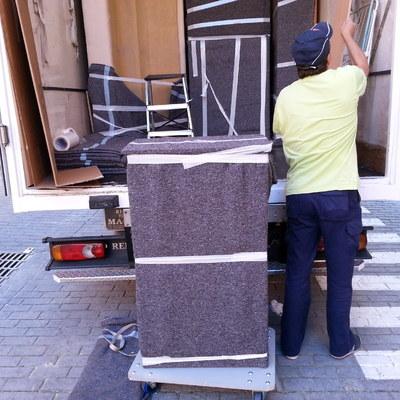 carga de mobiliario