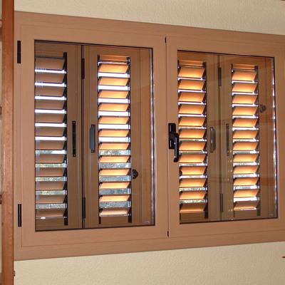 Carpintería aluminio lacado madera