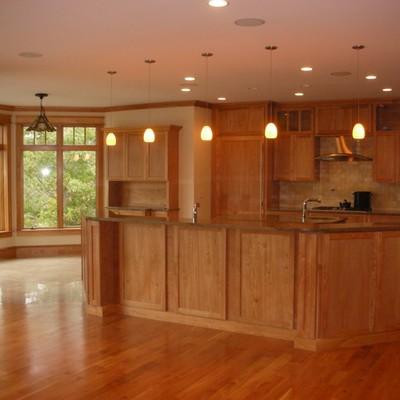 Cocina de madera estilo americano
