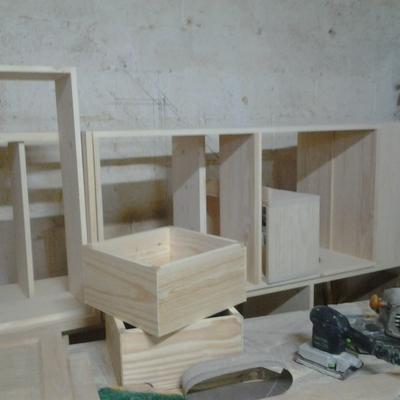 Carpinteria modulos y cajones de cocina.