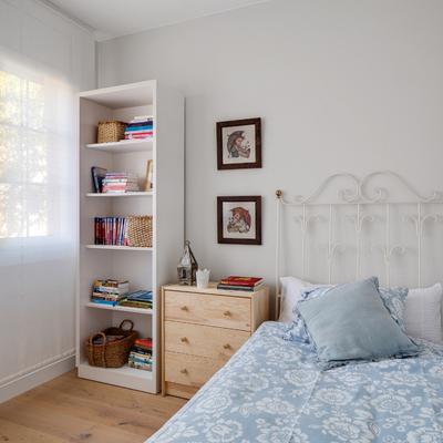 Dormitorio de una joven viajera