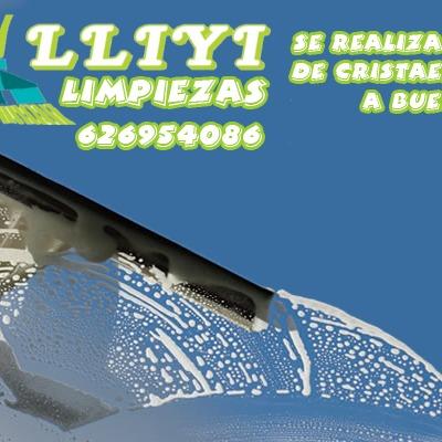 cartel de limpieza de escaparates  y bentanas