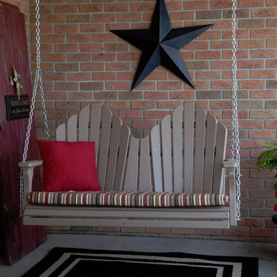 CASA BRUNO columpio de porche en poly-madera (Polywood)