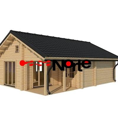 Casa de madera de 66m2