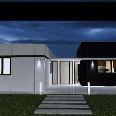 Casa módulo blanco, módulo negro