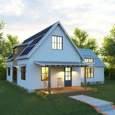 Casas con energía solar.