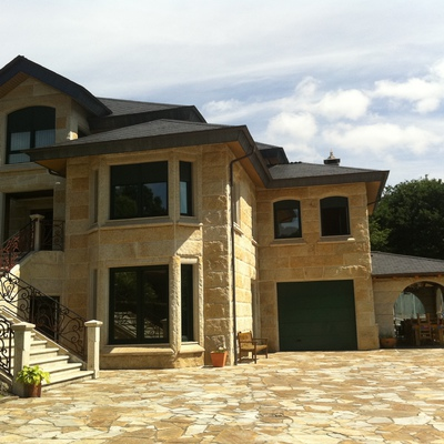 casa revestida con piedra de Galicia