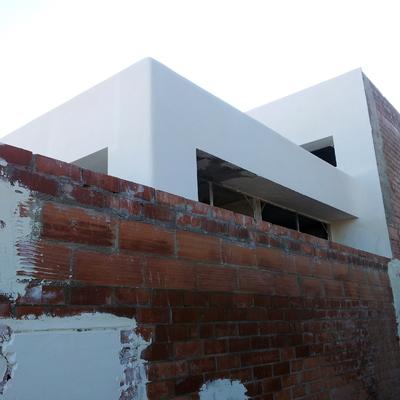 Casa tous fachada de mortero