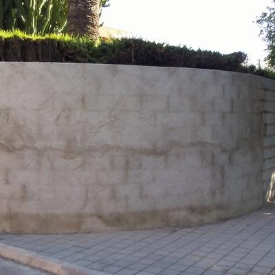 Realizacion de muro redondo