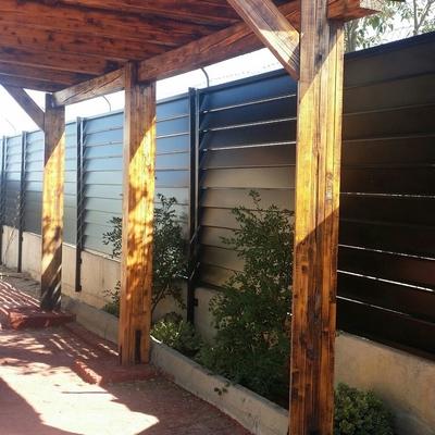 Cerramiento de lamas en Aranjuez