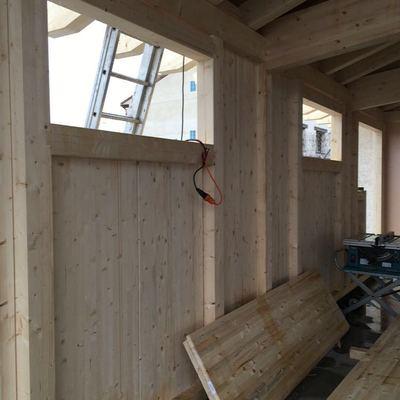 Marco estructural de madera en estructura TimberOnLive