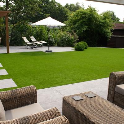 césped artificial jardin