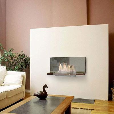 Chimenea de bioetanol de interio pared extrecha sin humo, sin tiro