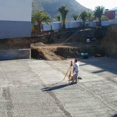 Cimentación de un complejo de viviendas en San Mateo- Gran Canaria