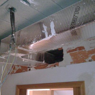 Climatización de conductos en vivienda