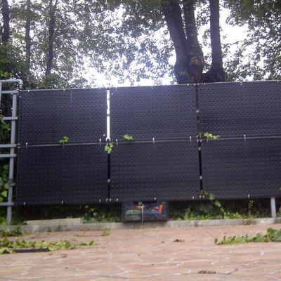 Climatización piscina exterior comunidad de vecinos en Madrid.