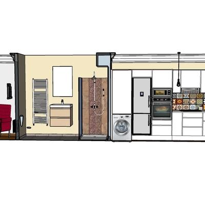 Diseño interior apartamento 45 metros cuadrados
