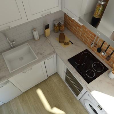 Render cocina proyecto Cuatro Caminos