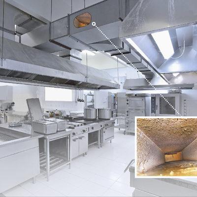 Desengrase Sistemas de Extracción en Cocinas Industriales
