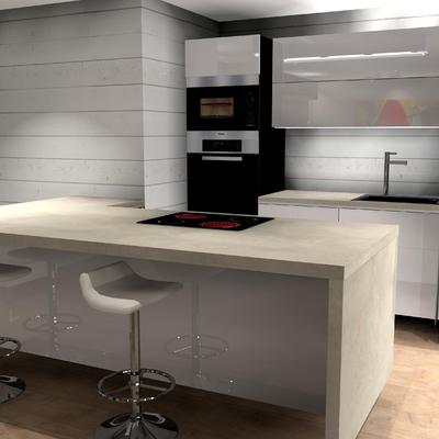 Cocina abierta 3D