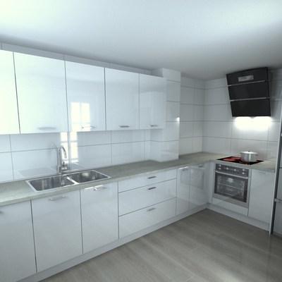 Diseño de cocina para casas adosadas en urbanización Vista Calderona (La Pobla de Vallbona).