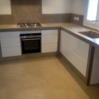 Betonisart palam s for Cocinas de concreto forradas de azulejo