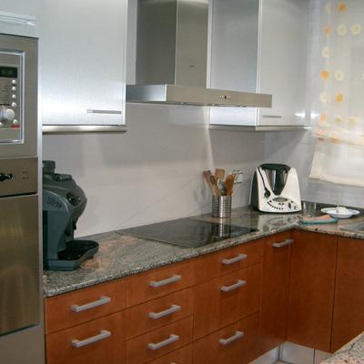 cocina combi  Cerezo/aluminio