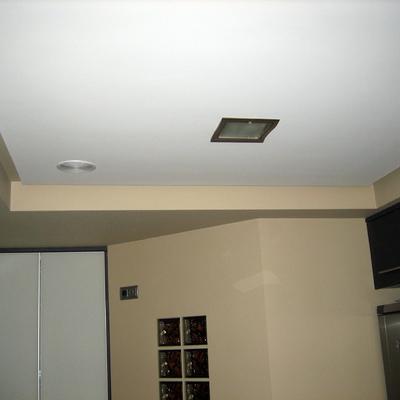 cocina con doble techo