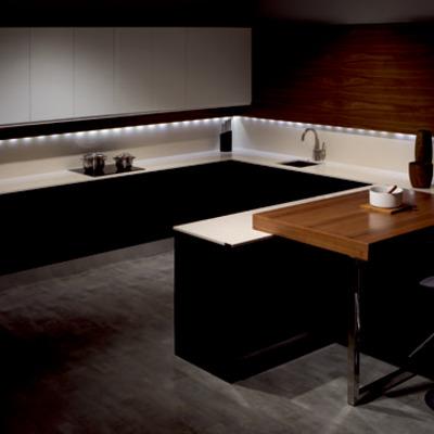 iluminacion clasica bajo mueble cocina