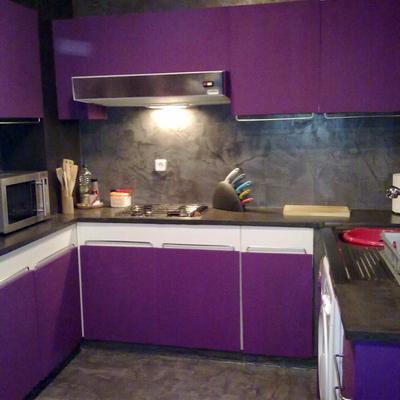 cocina en gris rustico