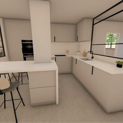 Render cocina proyecto Centro