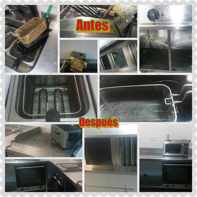 Limpieza de cocina de  bar
